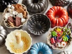 Hole in One : Like its cousin the tube pan, a Bundt pan has a fluted shape that encourages even cooking and browning in cakes. But it's good for so much more than baking. Take advantage of the sturdy construction of this old-fashioned favorite and use it in the freezer, on the grill and beyond.