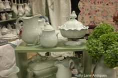 Visit Holly Lane Antiques on Ruby Lane  http://www.rubylane.com/shop/hollylaneantiques/ilist?samedb=1=hollylaneantiques=white+and+ironstone=Go
