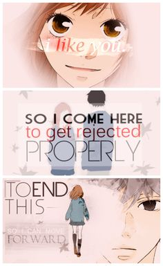 "Ao Haru Ride ""To make me convinced of this broken heart I want to get rejected properly"""