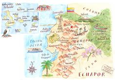Ecuador map by Michael Hill | PlanSouthAmerica | The Travel Specialists