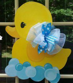 Rubber Duck Door Hanger.  Baby Shower Door Hanger. | Etsy