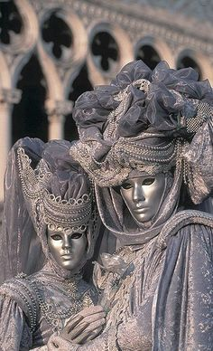 Carnevale di Venezia - The Venice Carnival is now world famous.  It always takes place during the ten days leading up to Shrove Tuesday. Carnival, being a pre-Lent festival, means 'farewell to meat' and is celebrated throughout Italy.   It is a great excuse to don a mask and costume.