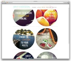 Another beautiful website -- Brit Hanson.  And a shout out to @Design Milk. #awesome