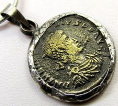 FREE SHIPPING ANCIENT ROMAN BYZANTINE COIN IN PENDANT CO 1135 coin jewelry , coin pendant ,ancient coin pendant