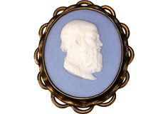 "A wonderful Wedgwood & Bentley jasper cameo medallion depicting Greek philosopher Aristippus of Cyrene, a follower of Socrates. Medallions such as these are truly exceptional, as solid jasper was only made by Wedgwood for a short period of time. Set in a brass frame, this plaque is stamped ""Wedgwood"" on the reverse side."