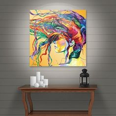 Art Wall Lynn-001-36x36-w Linzi Lynn 'Windswept' Gallery-Wrapped Canvas Artwork, 36 by 36-Inch    I love the look of abstract modern wall art.  These trendy, cute, and cool abstract canvas art can bring life, fun and a bit of mystery to a living room or bedroom.  Lately trending has been the use of abstract wall art in game and family rooms.  Surprisingly I have the most pieces of modern abstract canvas wall art in my office as it gives me inspiration.
