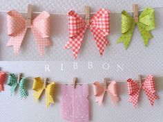 origami bows // how-to