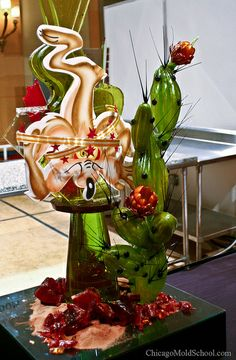 World Pastry Championship 2010 - Beautiful sugar showpiece by Team UK - The Chicago School of Mold Making