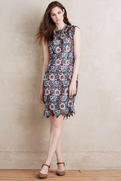 Hibiscus Lace Sheath #Anthropologie