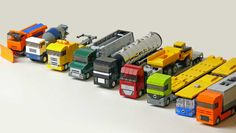 Microscaled Trucks #trucks #microscale #brickadelics #lego