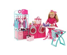 Our Generation Contemporary Laundry Set For Dolls All American Doll, American Girl Clothes, Girl Doll Clothes, Girl Dolls, American Girls, American Girl Accessories, Doll Accessories, Ag Doll House, Doll Houses