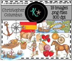 Christopher Columbus Original Illustrations/Clip Art 19 original illustrations/graphics for personal and commercial use! © Kerri Webb 2014 Kerri's Art Corner © Lauren Webb 2014 {a social studies life}