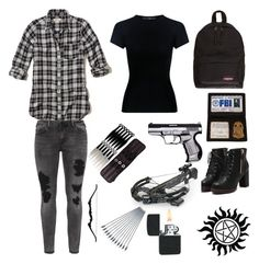"""supernatural"" by honeybee-cas on Polyvore featuring Hollister Co., TIBI, Zizzi and Eastpak"