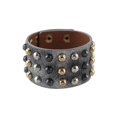 Punk Rock Design Adjustable Chunky Wide Braided Leather Bracelet ($6.15) ❤ liked on Polyvore featuring jewelry, bracelets, bracelet's, chunky jewellery, chunk jewelry, punk rock jewelry, punk jewelry and adjustable bangle