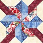 Whirling Star Quilt Block Pattern