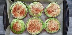 Roasted Cabbage Steaks - Eat Something Vegan Entree Recipes, Side Dish Recipes, Vegetable Recipes, Vegetarian Recipes, Cooking Recipes, Healthy Recipes, Baked Cabbage, Cabbage Steaks, Roasted Cabbage