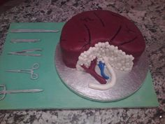 In Dec of 2010 our oldest son donated one of his kidneys to his cousin. We had a fundraiser and auctioned off this kidney cake I made. It brought in $100 from the highest bidder.