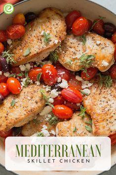 Skillet Mediterranean Chicken | eMeals.com