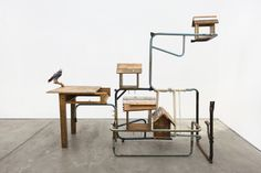 Kemang Wa Lehulere: Bird Song - Announcements - e-flux South African Artists, Modern Contemporary, Sculpture, Songs, Bird, Table, Furniture, Design, Home Decor