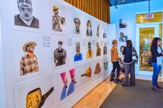 """The exhibit features more than 70 recently taken photographic portraits of those who helped create the """"Memphis Sound. Photo Exhibit, Memphis, Photographs, Photo Wall, Museum, Portraits, Display, Create, Floor Space"""