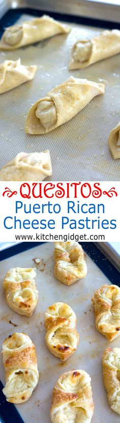 A quesitos recipe just like you find in Puerto Rican bakeries. Sweet cream cheese breakfast pastries in layers of light, crisp Puff Pastry! #Ad #InspiredByPuff