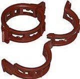 Twine Clips Mega 25mm Terracotta, Pack of 100 Clips support tomatoes, cucumber and other vine climbing plants to stakes or cages. Locking clip won't pop open as plant weight increases. Won't constrict growth or bind stems. #Tomato cages & supports $10.00 Types Of Tomatoes, Growing Tomatoes, Tomato Cages, Plant Needs, Twine, Cucumber, Garden Tools, Plants, Stems