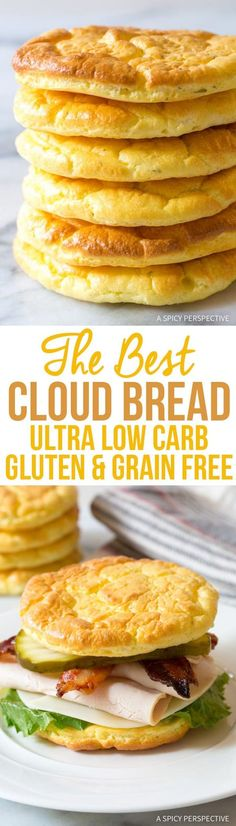 You've got to try this! The Best Cloud Bread Recipe via - - You've got to try this! The Best Cloud Bread Recipe via You've got to try this! The Best Cloud Bread Recipe via Sommer Ketogenic Recipes, Gluten Free Recipes, Low Carb Recipes, Diet Recipes, Cooking Recipes, Lunch Recipes, Ketogenic Diet, Bread Recipes, Recipies