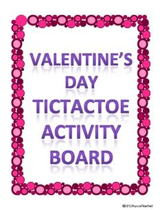 Valentine's Day TicTacToe Choice Board