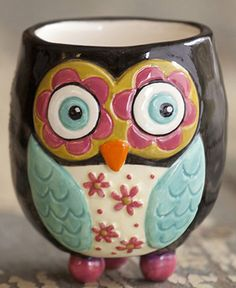 Owl Toothpick Holder Ceramic Decorative Home