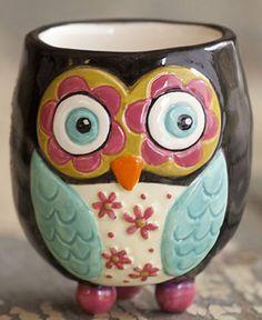 Owl Toothpick Holder Ceramic Decorative Home