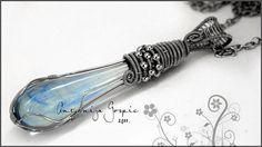 Blue Magic pendant  wire wrapped by AntonijaGospic on Etsy, $42.00