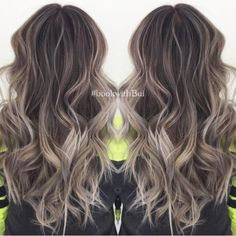 Light ash brownhighlighted hair pinterest pr coafuri i beautiful long dark brown hair with lots of cool tone ash blonde highlighted balayage pmusecretfo Image collections