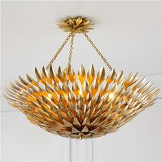 Olive Leaf Dual Mount Chandelier - Large Shades of Light