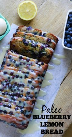 Paleo Blueberry Lemon Bread - www.savorylotus.com
