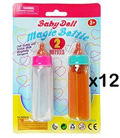Magic baby bottles can either have juice or milk in them that disappears when the container is tilted. Baby Doll Play, Baby Doll Bed, Baby Doll Toys, Doll Beds, Little Girl Toys, Toys For Girls, Reborn Baby Girl, Reborn Babies, Minnie Mouse Room Decor