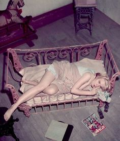 Carroll Baker in Baby Doll (1956), controversial Tennessee Williams big screen adaptation