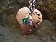 Hand Stamped Jewelry  Heart Hand Stamped by KottageKreations, $24.00
