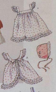 Bebé vestido de verano costura patrón solía sin por latenightcoffee                                                                                                                                                                                 Más