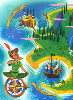 Neverland Map by John Hench and Al Dempster