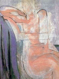A Pink Nude Seated