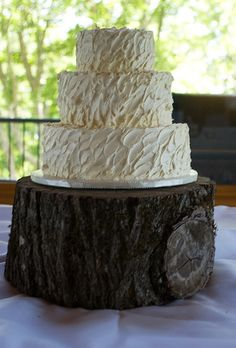 Rustic Buttercream Wedding Cake by Just Simply Delicious, via Flickr