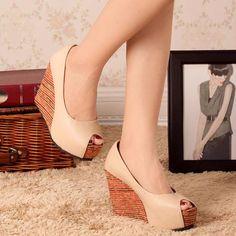 7a185a12e Beautiful Peep Toe Cool Wedges Cute Wedges Shoes, Womens Shoes Wedges, Wedge  Shoes,