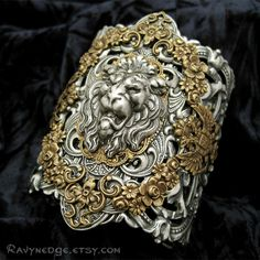 Lion's Pride Mixed Metal Cuff Bracelet Sold