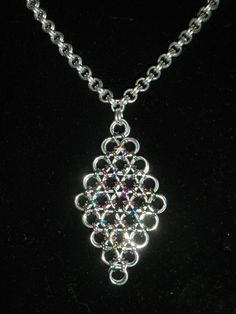 Chainmail hanger.                                          FB: Tessa's chainmail workshops