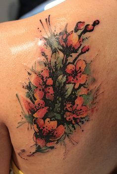 Flower Cover Up Tattoo 2 by Gene Coffey, via Flickr