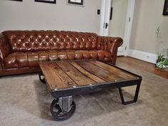 Industrial Cart Coffee Table by CraftedUnderground on Etsy