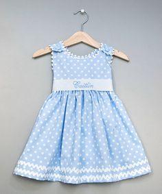 Blue Polka Dot Personalized Sash Jumper - Infant, Toddler & Girls #zulily #zulilyfinds