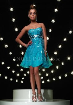 Sweetheart A line Organza Empire Short Length With Beading Evening Gown