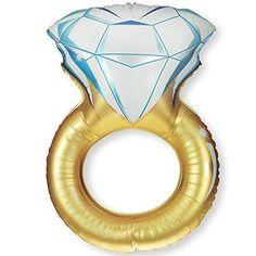 """HIHAOXJ Diamond Engagement RING Bling 37"""" Bridal Shower Wedding Mylar Foil Balloon"""