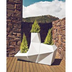 FAZ Planter, Outdoor Lighted Furniture Design at Cassoni.com